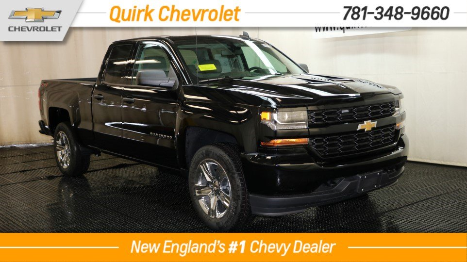 New 2018 Chevrolet Silverado 1500 Custom Double Cab Pickup In Braintree  C57338 Quirk Chevrolet